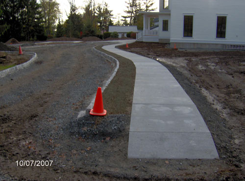 Granite Curbing at the community Foundation in Montrose, Pa.